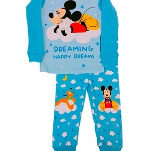 "Mickey Mouse ""Dreaming happy dreams"" cotton PJs"